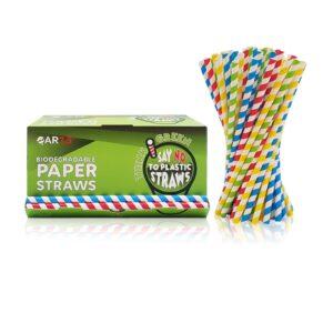 200 cannucce di carta colorate Amazon 22 cm
